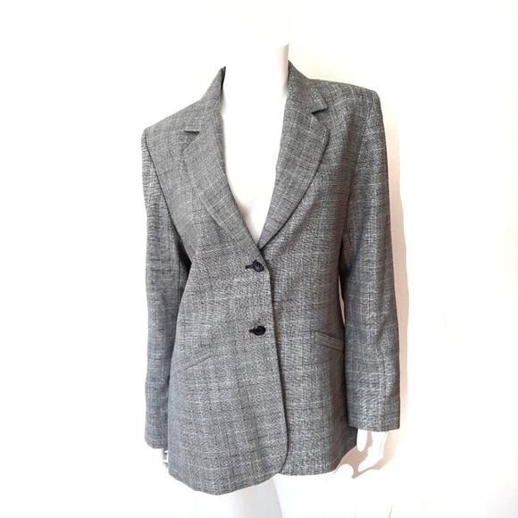 Pendleton Jackets & Blazers - Pendleton Wool Gray & Navy Blue Plaid Suit Blazer